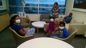 Kids visiting